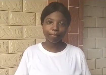 Valdine, 16, from Cameroon