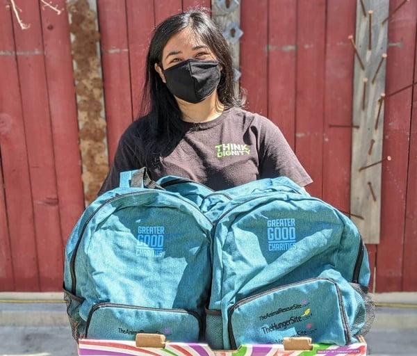 Think Dignity_Distributing Good Packs